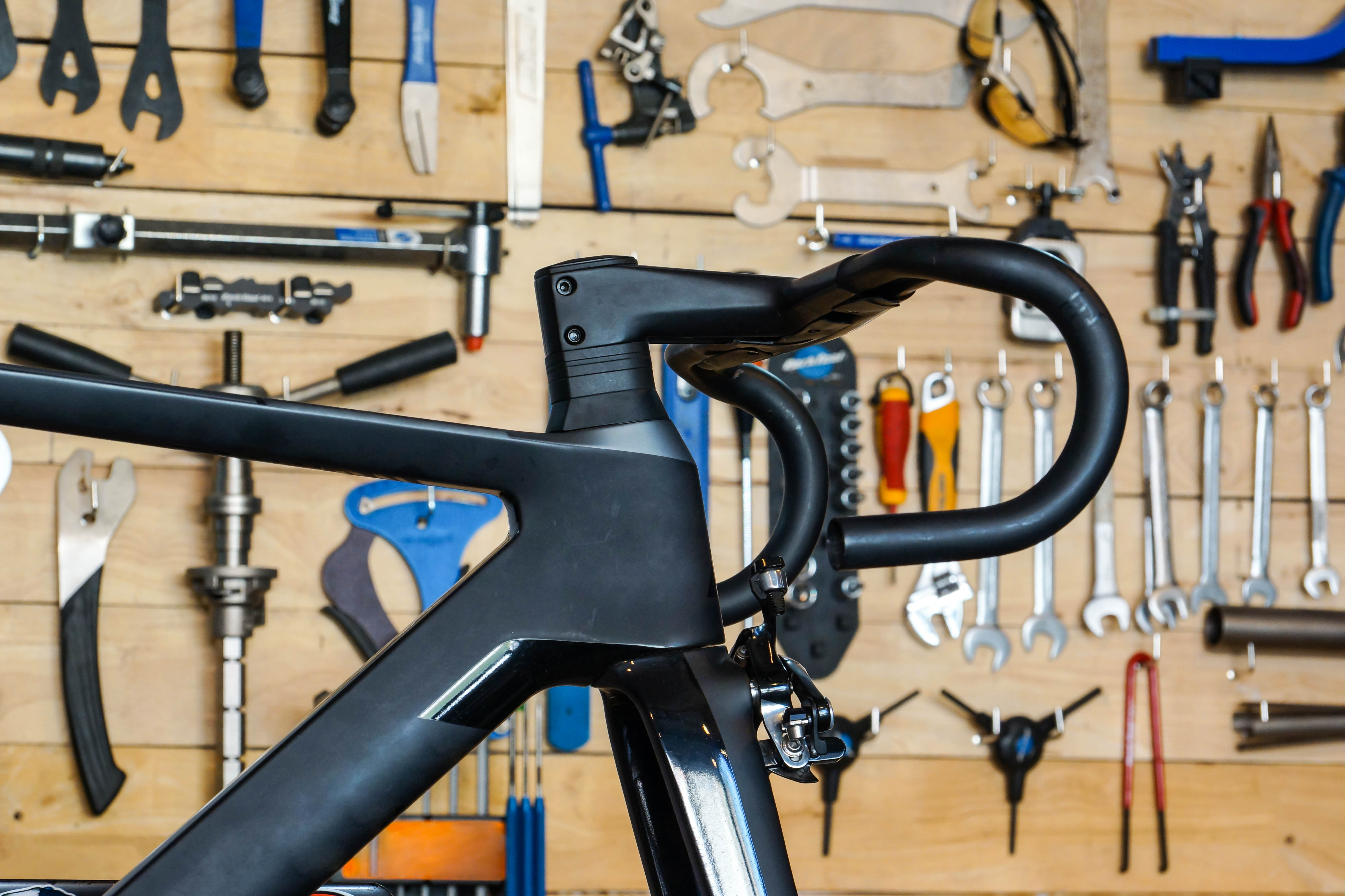 picture of a bike tools and a bike